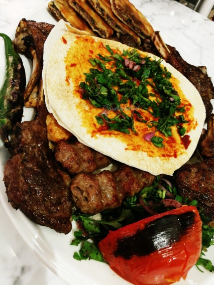 grilled assorted meat